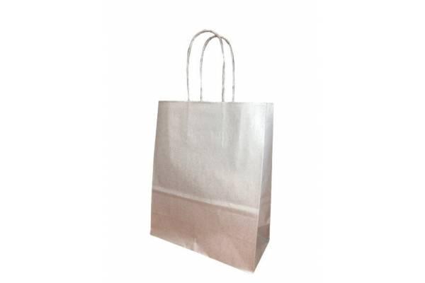 Gift bag 18cm x 8cm x 22cm Silver