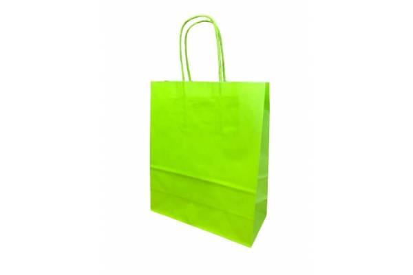 Dovanų maišelis 18cm x 8cm x 22cm Šviesiai žalia
