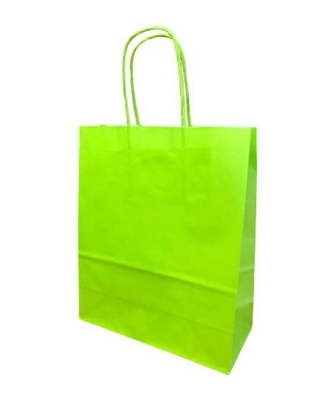 Gift bag 18cm x 8cm x 22cm Light green
