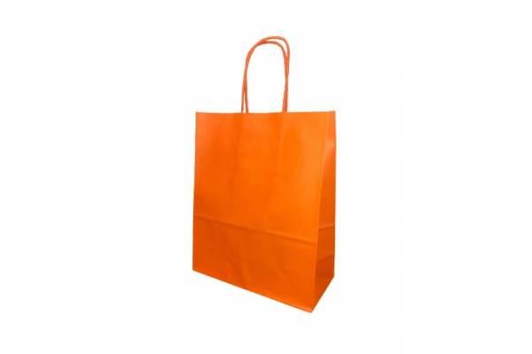 Gift bag 18cm x 8cm x 22cm Orange