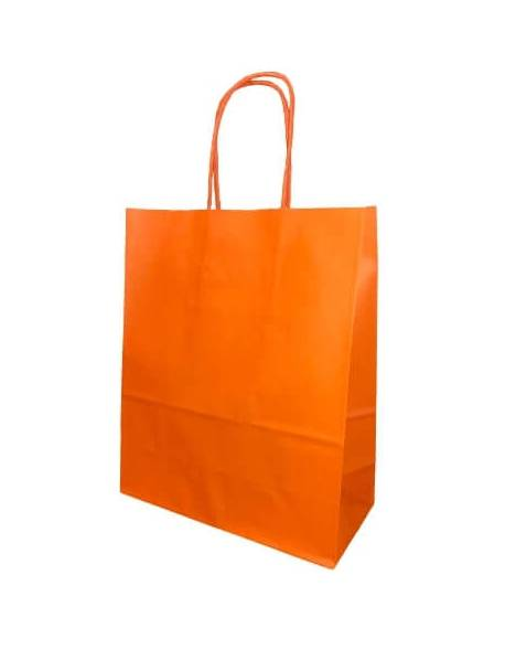 Gift bag 18cm x 8cm x 22cm Orange