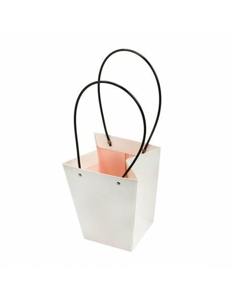 Kartoninis dovanų krepšelis 15cm x 13cm x 9.5cm