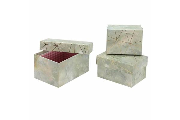 Rectangular, marble gift boxes, 3 pcs.