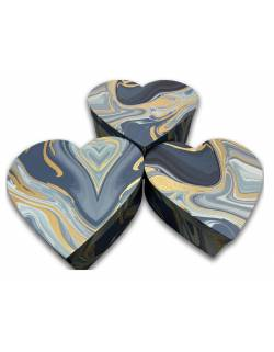 Heart shaped gift boxes, 3 pcs.