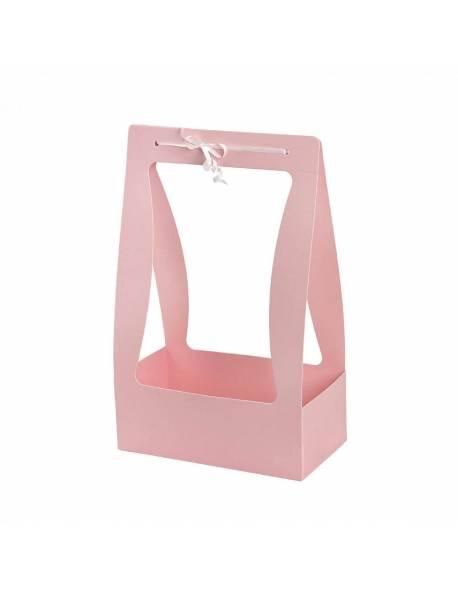 Sulankstoma dėžutė su rankena (Rožinė) 22x11,5x35cm