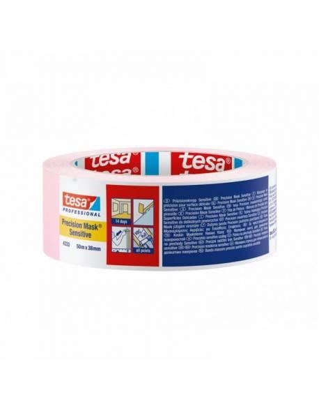 tesa® Precision Mask® Dažymo juosta jautriems paviršiams 38mm x 50m Rožinė 24 rul./dėž.