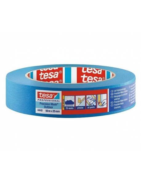 tesa® Dažymo juosta jautriems paviršiams lauko darbams 25mm x 50m Mėlyna 36 rul./dėž.