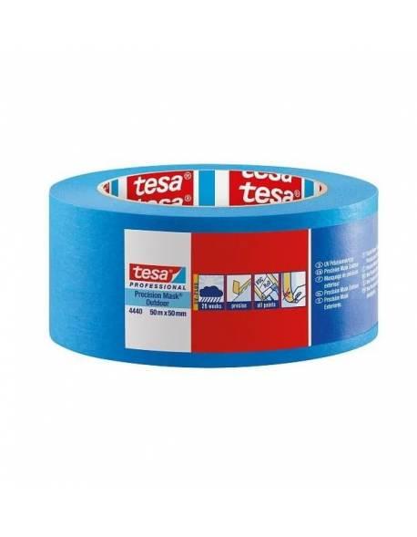 tesa® Dažymo juosta jautriems paviršiams lauko darbams 50mm x 50m Mėlyna 18 rul./dėž.