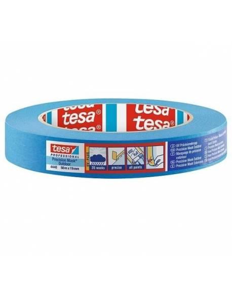 tesa® Dažymo juosta jautriems paviršiams lauko darbams 19mm x 50m Mėlyna 48 rul./dėž.