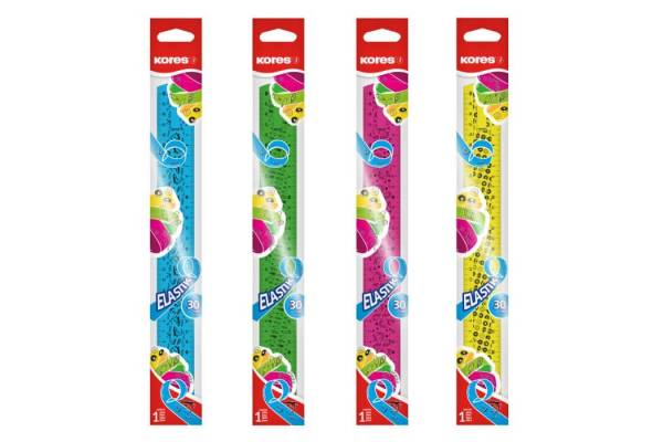 Ruler Kores Elastic, flexible 15cm