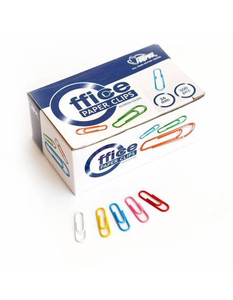 Colored paper clips FORPUS, 26mm 500pcs.