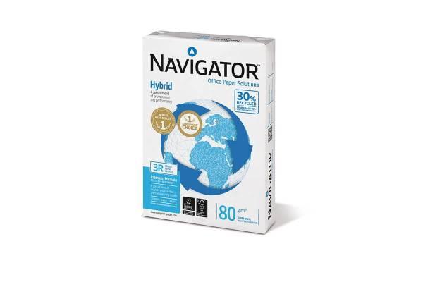 Popierius NAVIGATOR Hybrid 500 lapų, 80g/m2, A4