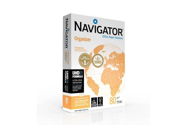 Paper NAVIGATOR Organizer 500 sheets, 80g/m2, A4, perforated with 2 holes