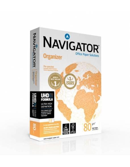 Popierius NAVIGATOR Organizer 500 lapų, 80g/m2, A4, perforuotas 2 skylėmis