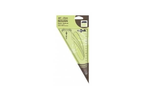 Liniuotė trikampė JPC, 21cm