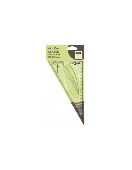 Ruler triangular JPC, 21cm
