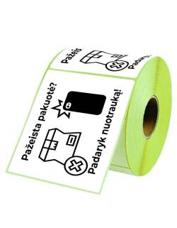 """Adhesive labels 98x150mm """"Damaged packaging? Take a picture!"""""""