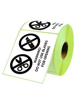 """Self-adhesive labels 98x150mm """"Do not use blades for opening!"""""""