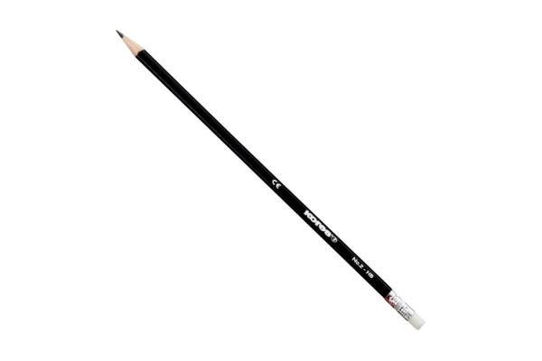 Pencil KORES GRAFITO HB, with eraser