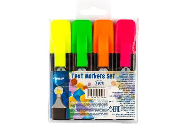 Text markers CENTRUM, set of 4 colors