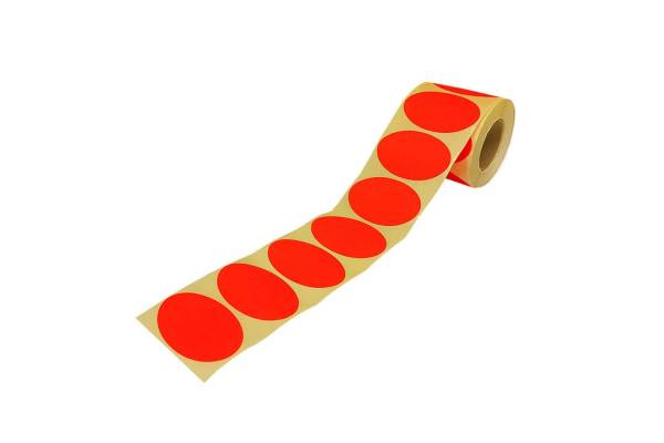 Adhesive, colored labels 63x40mm 1000pcs / roll.
