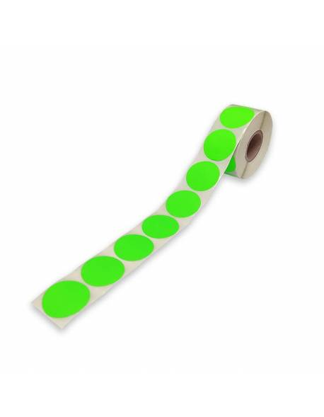 Adhesive, colored labels Ø47mm 1000pcs./roll