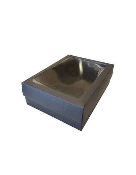 Dėžutė 2-jų dalių su PVC langeliu, DEKO 280x210x90mm