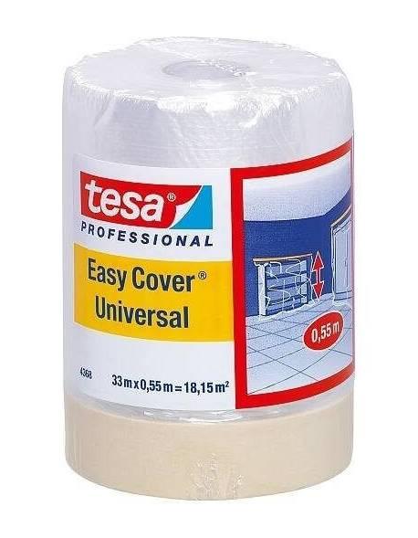 Apsauginė plėvelė su lipnia juosta tesa® 4368 EASY COVER 55cmx33m