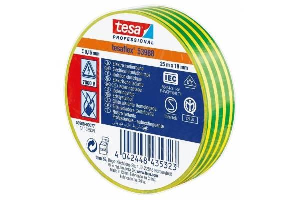 PVC insulation tape yellow/green  53948-20 19mmx20m