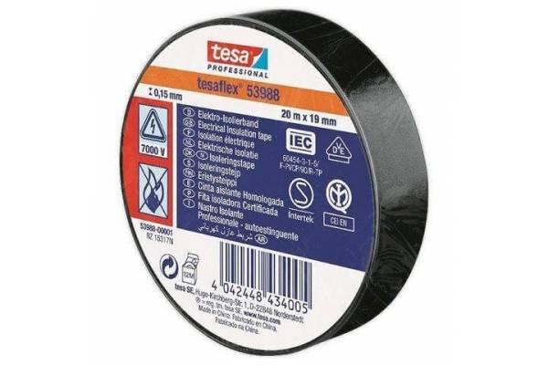 tesa flex PVC insulation tape 53988 black 19mmx20m