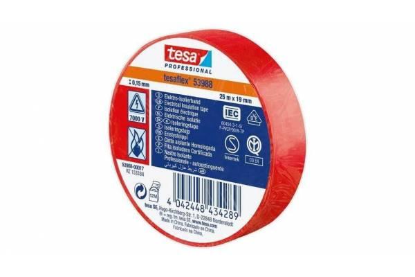 tesa flex PVC insulation tape 53988 19mmx20 redm