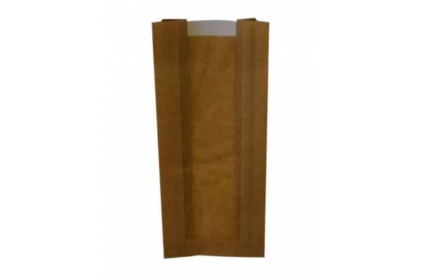 Popieriniai maišeliai su langeliu 100x60x240mm / 100vnt.