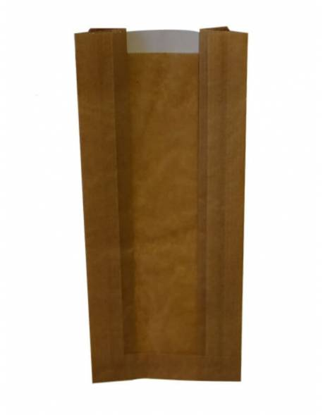 Paper bags with a window 100x60x240mm / 100pcs.