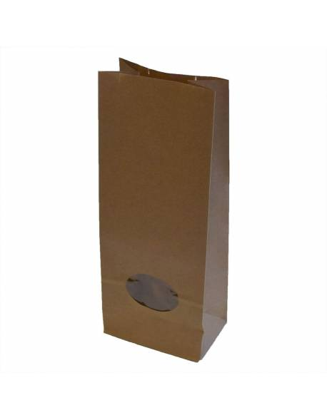 Paper bags with a window 105x65x270mm / 50pcs.