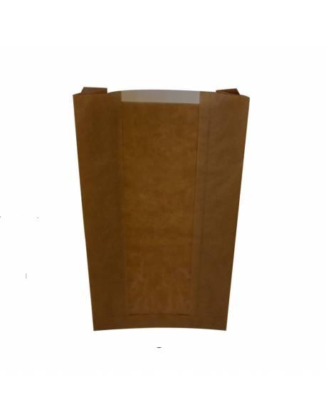 Popieriniai maišeliai su langeliu 150x60x280mm / 100vnt.