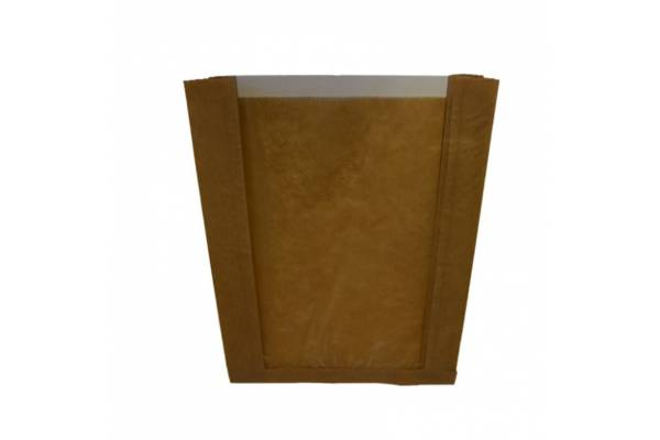 Popieriniai maišeliai su langeliu 180x60x250mm / 100vnt.