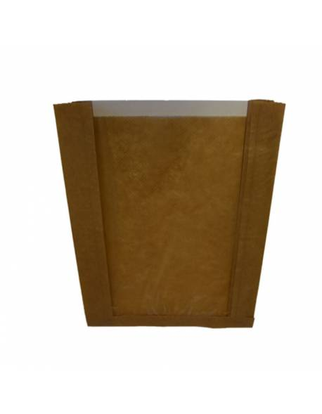 Paper bags with a perforated window 180x60x250mm / 100pcs.