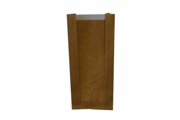 Popieriniai maišeliai su perforuotu langeliu 100x60x240mm / 100vnt.
