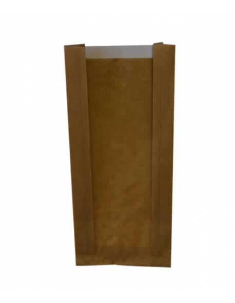 Paper bags with a perforated window 100x60x240mm / 100pcs.
