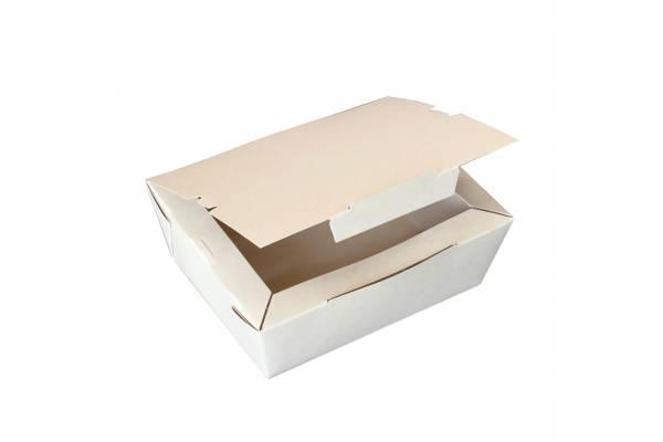 Vienkartinė popierinė pietų dėžutė 1000ml / 60vnt.