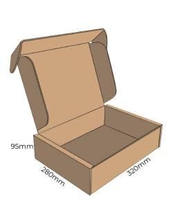 Cardboard box FEFCO 0427, 320x280x95mm (M)