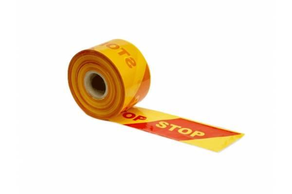 """Įspėjamoji """"STOP"""" juosta 100mm x 500m"""