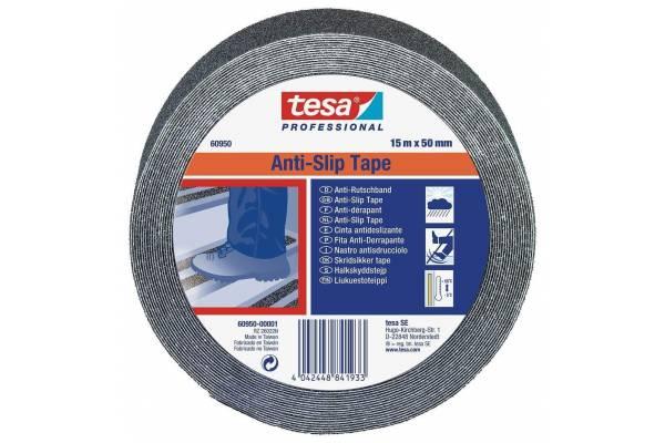 Slydimą mažinanti juosta TESA 60950 - JUODA 50mm x 15m