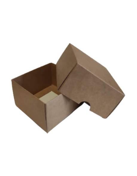 Cardboard box of 2 parts (XS) 90x90x50mm