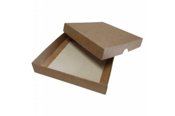 Cardboard box of 2 parts 120x120x20mm (XS)