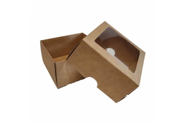 Kartoninė dėžė su PVC langeliu (XS) 90х90х50mm