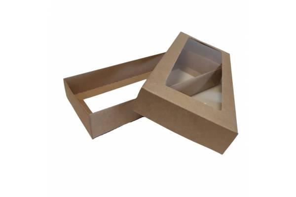 Kartoninė dėžė su PVC langeliu, 2-jų dalių (S) 200х90х30mm