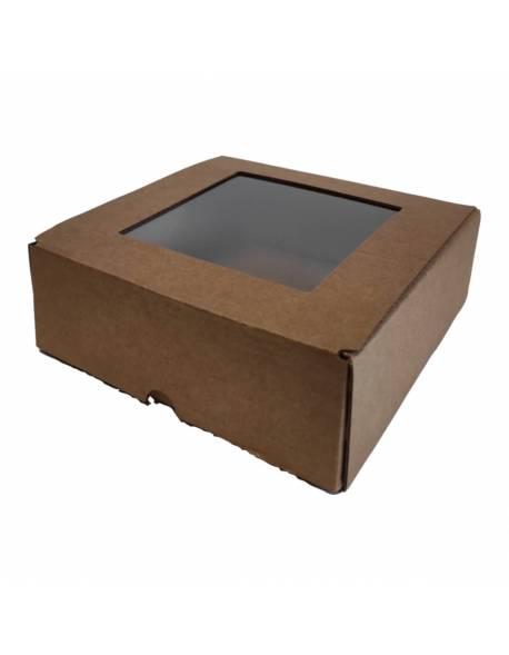 Cardboard box with PVC box (XS) 150x150x50mm