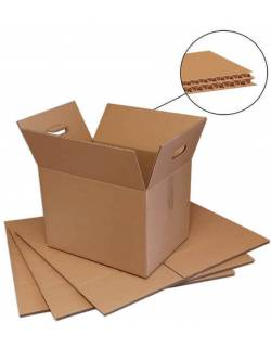 Sturdy cardboard boxes 400x300x320mm, with handles