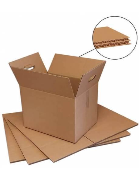 Kartoninė dėžė su rankenomis 400x300x320mm